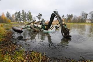 Расчистка озера