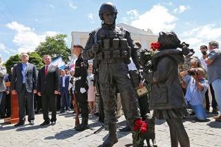 Открытие памятника «Вежливым людям»