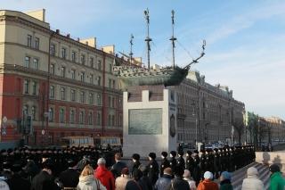 Открытие памятника первому русскому линейному кораблю «Полтава»