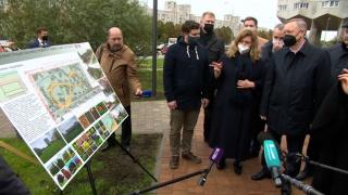 Сквер «Осенний марафон» открыли на Васильевском острове