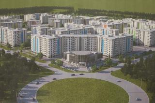 Проект микрорайона в городе-спутнике Романово