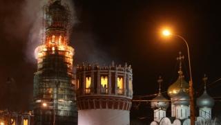 Пожар в московском женском Новодевичьем монастыре