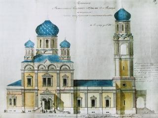 Фасад Вознесенского собора. Проект