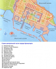 Схема центральной части города Кронштадта