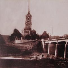 Вид на Рождество-Богородицкую церковь из-за р. Дон. Фото 1910-х гг.