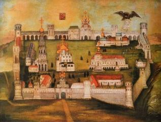 Вид Новодевичьего монастыря. Холст, масло. 1770-е гг.