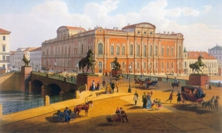 Аничков мост. 1850-е