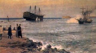 Затопление кораблей Черноморского флота на Севастопольском рейде