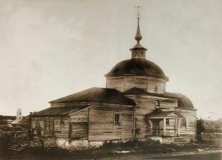 Деревянный храм Рождества Христова. Фото 1910-х гг.