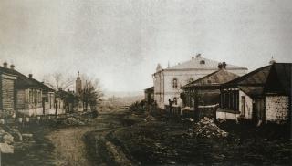 Семинарская улица в Данкове.  Фото 1910-х гг.