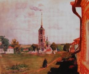 Рождество-Богородицкая церковь на картине художника Б. Кустодиева. 1926 г.