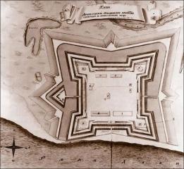 План Архангельской Новодвинской крепости