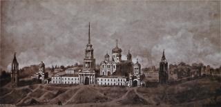 Вид Задонского Богородицкого монастыря в 1861 г.